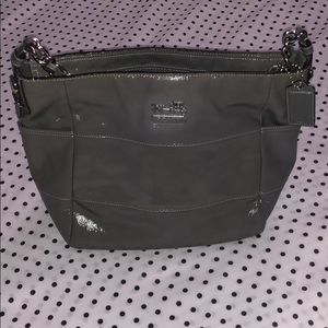 Coach patent leather hobo purse